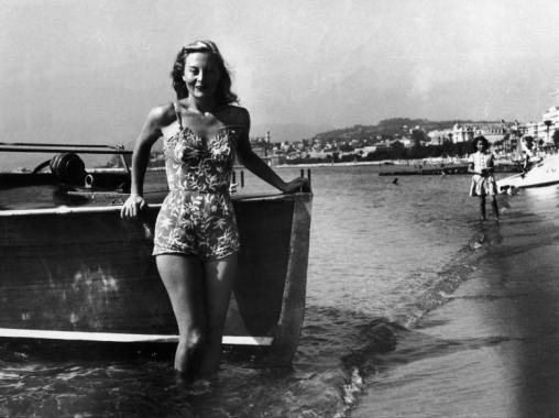Michele Morgan lors du premier festival de Cannes (1946)