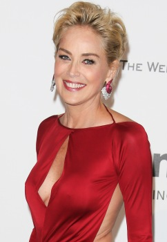 CAP D'ANTIBES, FRANCE - MAY 22: Sharon Stone - amfAR's 21st Cinema Against AIDS Gala, Presented By WORLDVIEW, BOLD FILMS, And BVLGARI at the 67th Annual Cannes Film Festival on May 22, 2014 (Photo by Tony Barson/FilmMagic)